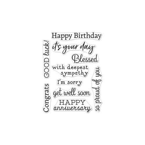 Hero Arts - Clear Photopolymer Stamps - Hero Greetings Occasions