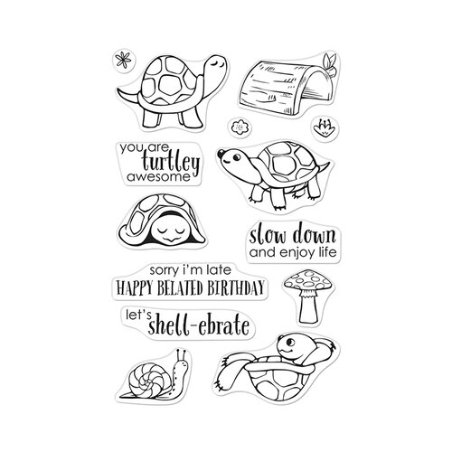 Hero Arts - Clear Photopolymer Stamps - Pet Turtle