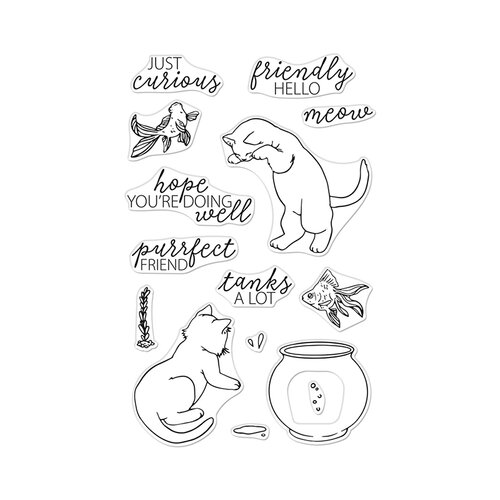 Hero Arts - Clear Photopolymer Stamps - Curious Cat