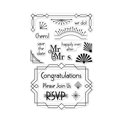 Hero Arts - Clear Photopolymer Stamps - Deco Celebration