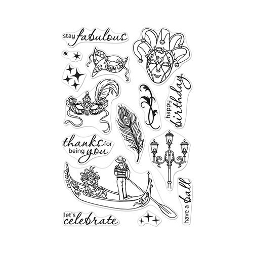 Hero Arts - Clear Photopolymer Stamps - Carnevale