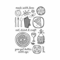 Hero Arts - Clear Photopolymer Stamps - Italian Table