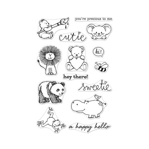 Hero Arts - From The Vault - Clear Photopolymer Stamps - Cute Animals