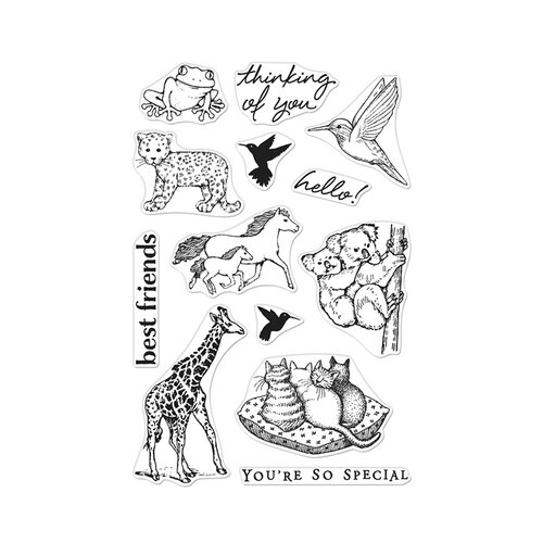 Hero Arts - From The Vault - Clear Photopolymer Stamps - Realistic Animals