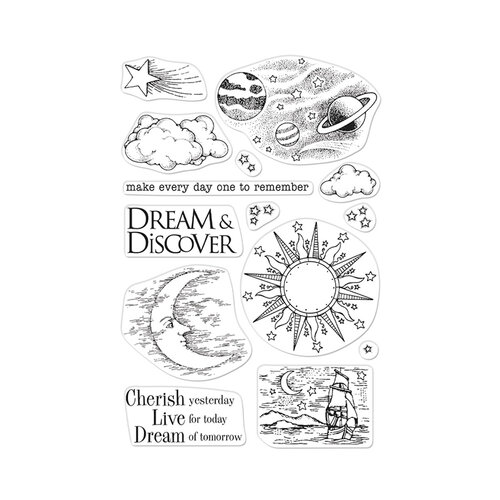 Hero Arts - From The Vault - Clear Photopolymer Stamps - Celestial