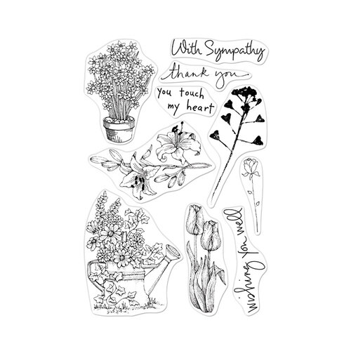 Hero Arts - From The Vault - Clear Photopolymer Stamps - Flowers