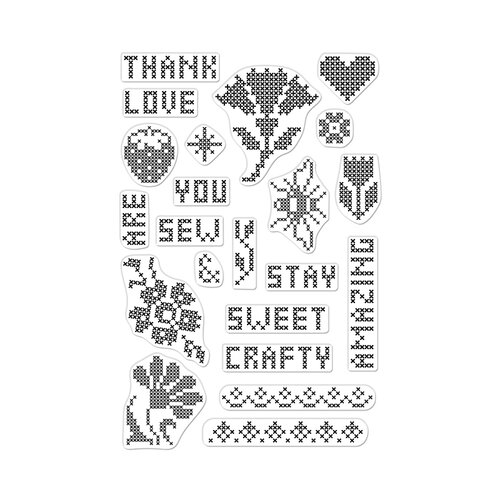 Hero Arts - Clear Photopolymer Stamps - Cross Stitch Patterns