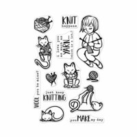 Hero Arts - Clear Photopolymer Stamps - Knitting