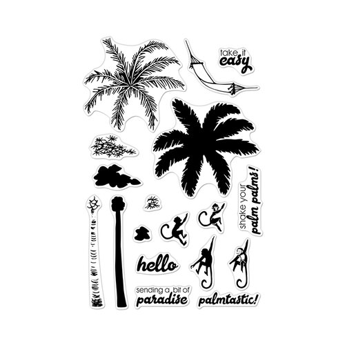Hero Arts - Clear Photopolymer Stamps - Color Layering Palm Tree