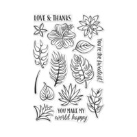 Hero Arts - Clear Photopolymer Stamps - Tropical Flowers
