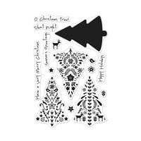 Hero Arts - Christmas - Clear Photopolymer Stamps - Color Layering Nordic Tree