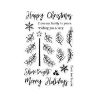 Hero Arts - Christmas - Clear Photopolymer Stamps - Build A Tree