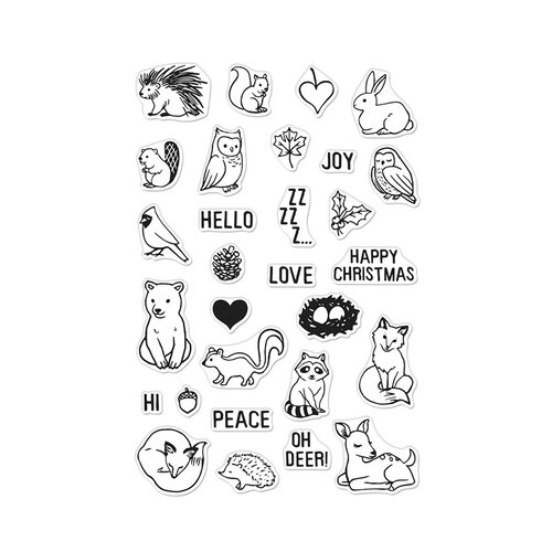 Hero Arts - Christmas - Clear Photopolymer Stamps - Winter Forest Animals