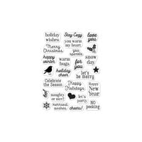 Hero Arts - Hero Greetings - Clear Photopolymer Stamps - Christmas Messages