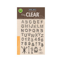 Hero Arts - Clear Photopolymer Stamps - Log Letters and Numbers