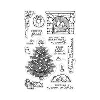 Hero Arts - Christmas - From the Vault - Clear Photopolymer Stamps - Home Scene