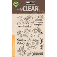 Hero Arts - Clear Photopolymer Stamps - Dragons & Unicorns