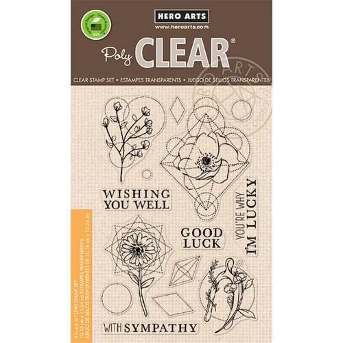 Hero Arts - Clear Photopolymer Stamps - Sacred Florals