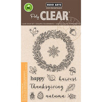 Hero Arts - Clear Photopolymer Stamps - Autumn Wreath