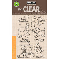 Hero Arts - Clear Photopolymer Stamps - Merry Woof