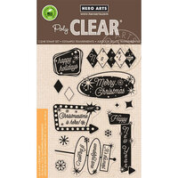 Hero Arts - Clear Photopolymer Stamps - Retro Christmas Messages