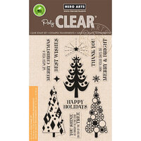Hero Arts - Clear Photopolymer Stamps - Stylized Christmas Trees