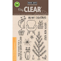 Hero Arts - Clear Photopolymer Stamps - Meowy Christmas