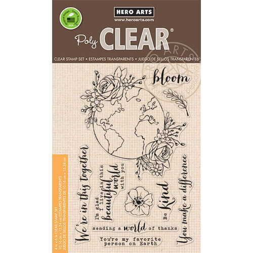 Hero Arts - Clear Photopolymer Stamps - Beautiful World