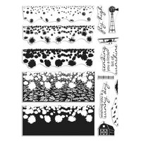 Hero Arts - Clear Photopolymer Stamps - Sunflower Field HeroScape