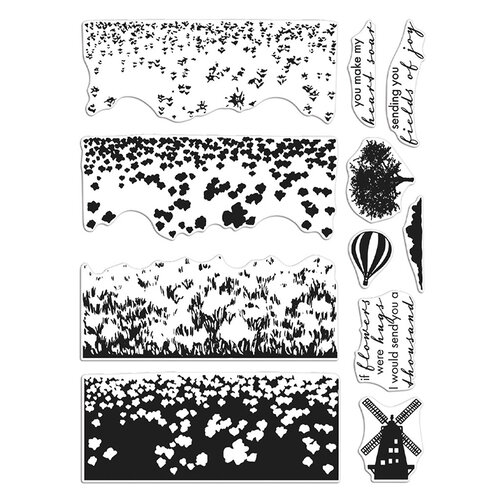 Hero Arts - Clear Photopolymer Stamps - Tulip Field HeroScape