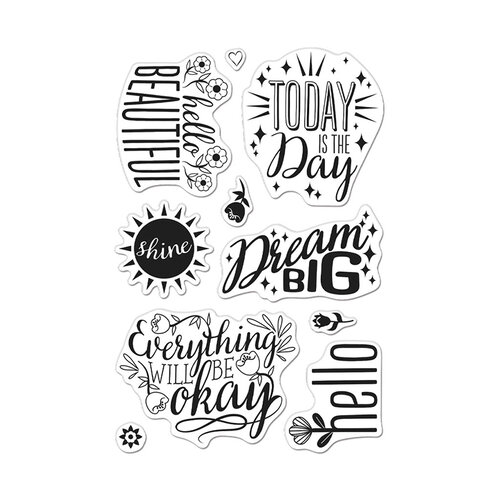 Hero Arts - Clear Photopolymer Stamps - Affirmation Messages