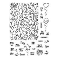 Hero Arts - Clear Photopolymer Stamps - Wish Big Peek-A-Boo Parts