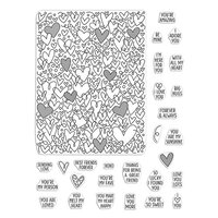 Hero Arts - Clear Photopolymer Stamps - All My Heart Peek-A-Boo Parts