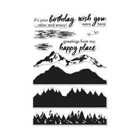 Hero Arts - Clear Photopolymer Stamps - Color Layering Mountains at the Lake