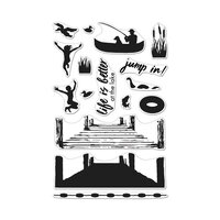 Hero Arts - Clear Photopolymer Stamps - Color Layering Pier at the Lake