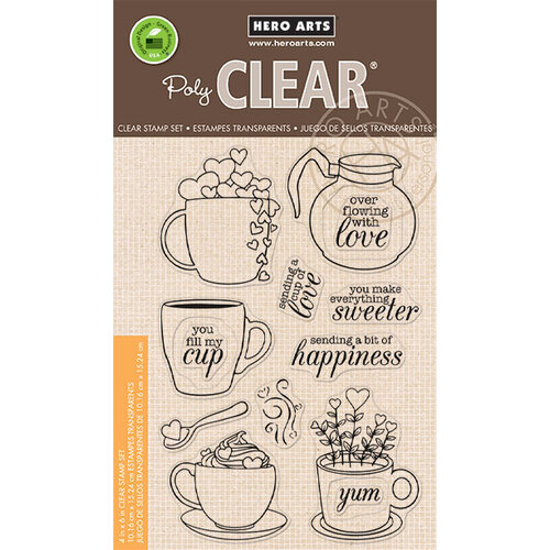 Hero Arts - Clear Photopolymer Stamps - Cup of Love