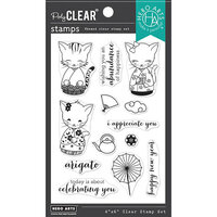 Hero Arts - Clear Photopolymer Stamps - Kittens In Kimonos