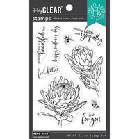 Hero Arts - Clear Photopolymer Stamps - Protea Flowers