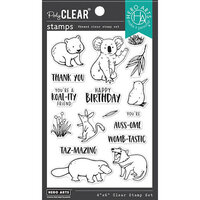 Hero Arts - Clear Photopolymer Stamps - Bandicoot and Friends