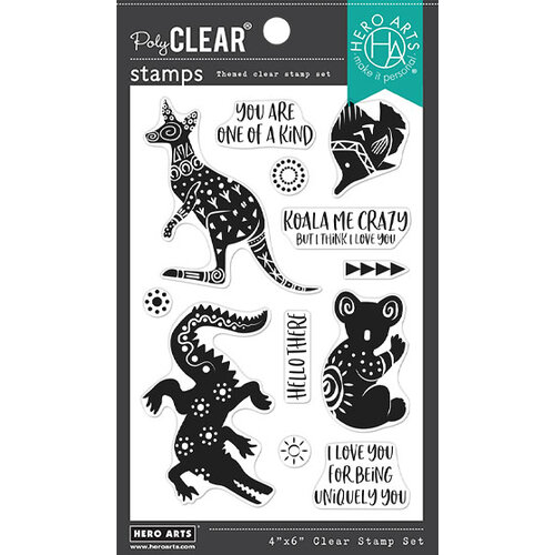 Hero Arts - Clear Photopolymer Stamps - Patterned Animals