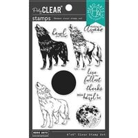 Hero Arts - Clear Photopolymer Stamps - Color Layering Howling Wolf