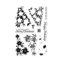 Hero Arts - Clear Photopolymer Stamps - Color Layering Poinsettia Christmas Tree