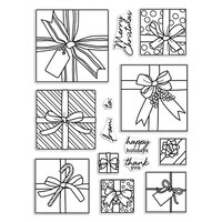 Hero Arts - Clear Photopolymer Stamps - Gift Peek-A-Boo Infinity Parts