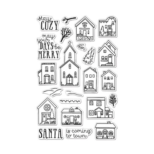 Hero Arts - Clear Photopolymer Stamps - Cozy Town