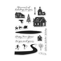 Hero Arts - Clear Photopolymer Stamps - Snowy Town