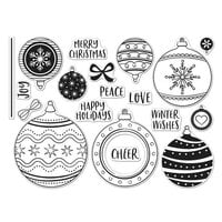 Hero Arts - Clear Photopolymer Stamps - Ornament Peek-A-Boo Infinity Parts