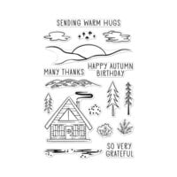 Hero Arts - Clear Photopolymer Stamps - Happy Autumn Forest