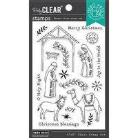 Hero Arts - Clear Photopolymer Stamps - Floral Nativity