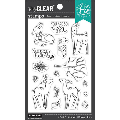 Hero Arts - Clear Photopolymer Stamps - Love You Deerly