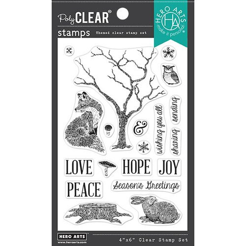 Hero Arts - Clear Photopolymer Stamps - Winter Tree and Animals